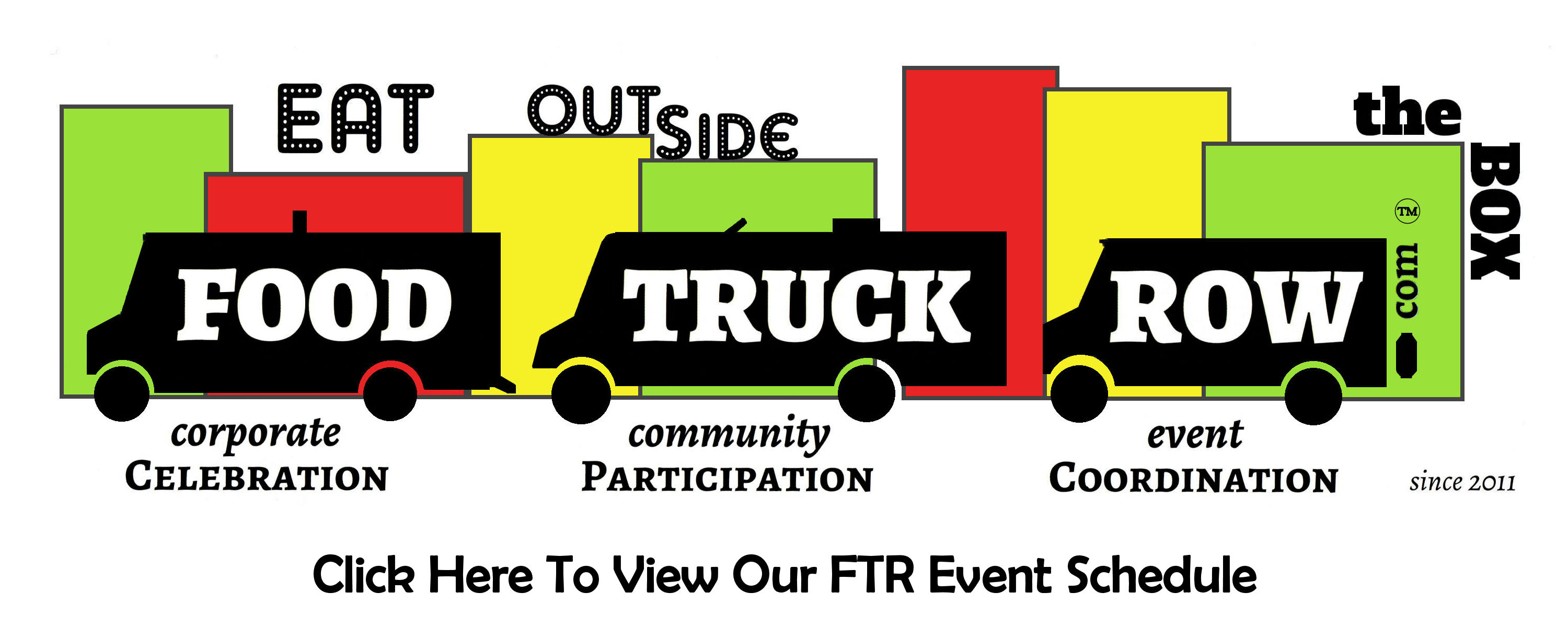 food truck row. click to view event schedule